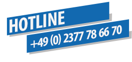 Unsere Hotline: +49 (0) 2377 78 66 70